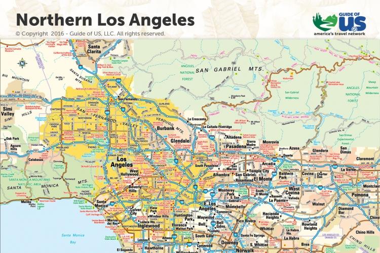Los Angeles Map Pdf Los Angeles Map Pdf | Bedroom 2018