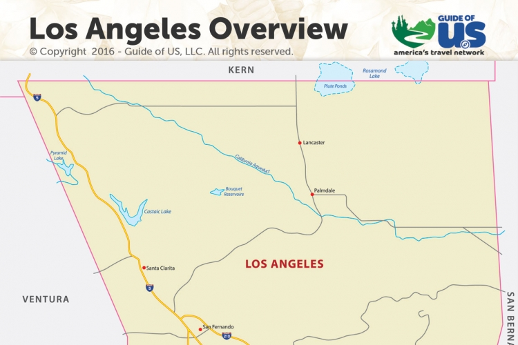 Los Angeles California Maps on