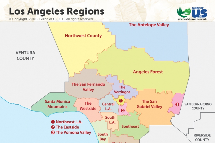 picture regarding Printable Maps of Los Angeles titled Los Angeles California Maps