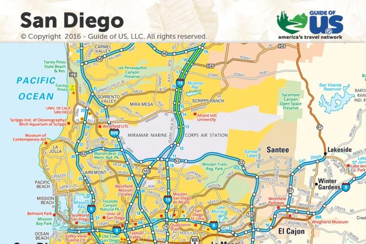 San Diego California Maps San Diego